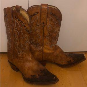 TONY LAMA Brown Cowboy Boots